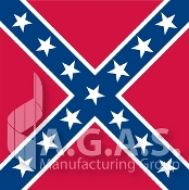 Confederate Square Batte Flags