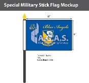 Blue Angels Stick Flags 4x6 inch