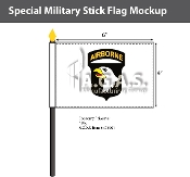 101st Airborne Stick Flags 4x6 inch