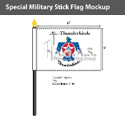 Thunderbirds Stick Flags 4x6 inch