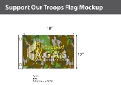 Support Our Troops Flags 12x18 inch (camouflage background)
