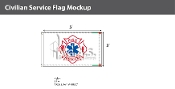 Fire Rescue Flags 3x5 foot