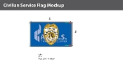 Police Department Flags 3x5 foot