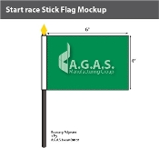 Start Race Stick Flags 4x6 inch