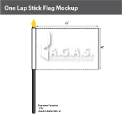 One Lap Stick Flags 4x6 inch