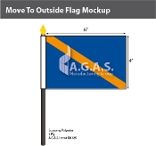 Move Outside Stick Flags 4x6 inch