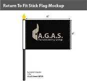 Return to Pit Stick Flags 4x6 inch