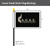Leave Track Stick Flags 4x6 inch