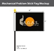 Mechanical Problems Stick Flags 4x6 inch