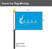 Faster Car Stick Flags 4x6 inch
