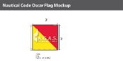 Oscar Deluxe Flags 3x3 foot