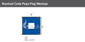 Papa Deluxe Flags 3x3 foot