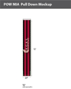 POW MIA Pull Downs 20 inch x 12 foot (black & red)