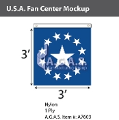 USA Fan Centers Only 3x3 foot with Star
