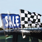 Checkered Car Flags
