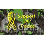 Support Our Troops Flags | Camouflage Background