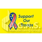 Support Our Troops Flags | Yellow Background
