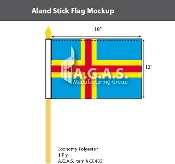 Aland Stick Flags 12x18 inch