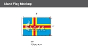 Aland Flags 2x3 foot