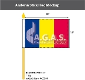 Andorra Stick Flags 12x18 inch (no seal)