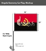 Angola Car Flags 12x16 inch Economy