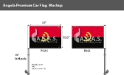 Angola Car Flags 10.5x15 inch Premium