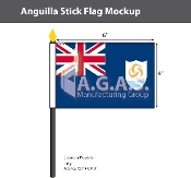 Anguilla Stick Flags 4x6 inch