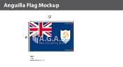 Anguilla Flags 8x12 foot