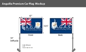 Anguilla Car Flags 10.5x15 inch Premium