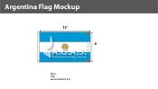 Argentina Flags 6x10 foot (with seal)