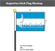 Argentina Stick Flags 4x6 inch (no seal)