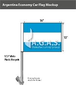 Argentina Car Flags 12x16 inch Economy (no seal)