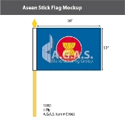 Asean Stick Flags 12x18 inch