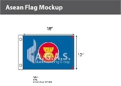 Asean Flags 12x18 inch