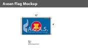 Asean Flags 6x10 foot