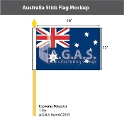 Australia Stick Flags 12x18 inch