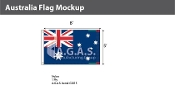 Australia Flags 5x8 foot