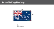 Australia Flags 6x10 foot