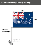 Australia Car Flags 12x16 inch Economy