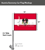 Austria Car Flags 12x16 inch Economy (with seal)