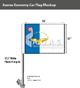 Azores Car Flags 12x16 inch Economy