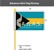 Bahamas Stick Flags 12x18 inch