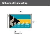 Bahamas Flags 12x18 inch