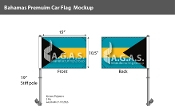 Bahamas Car Flags 10.5x15 inch Premium