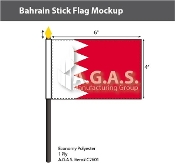 Bahrain Stick Flags 4x6 inch