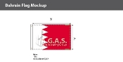 Bahrain Flags 2x3 foot
