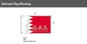 Bahrain Flags 3x5 foot