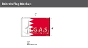 Bahrain Flags 4x6 foot