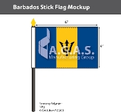 Barbados Stick Flags 4x6 inch