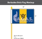 Barbados Stick Flags 12x18 inch